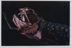 Unfathomable Beauty, multiple-plate intaglio print on rag paper, 2009