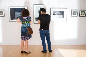 Artist Nicole Macdonald with Camilo Perez.
