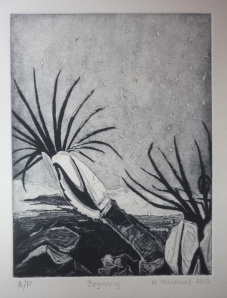 Beginning, intaglio print on cotton rag, 2012 SOLD OUT